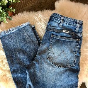 Retro Wrangler high rise cropped mom jeans